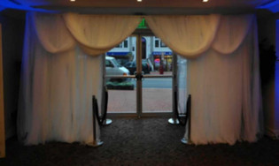 Bunted & Swag Draped Entrances